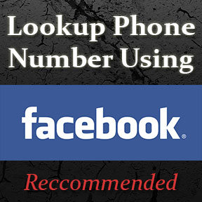 Lookup a phone number using Facebook search