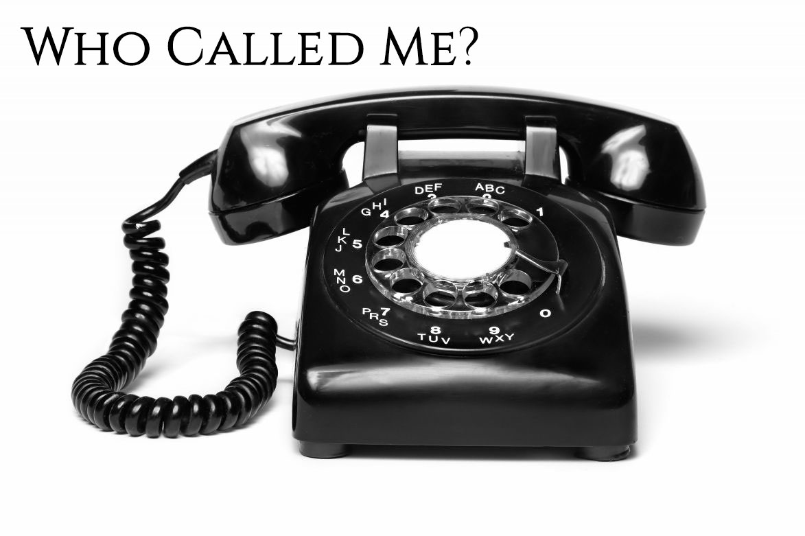 """Picture of a phone with the text """"who called me"""""""