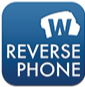 """The logo of the app """"reverse phone lookup"""""""