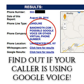 Method: How to find out if someone is using Google Voice