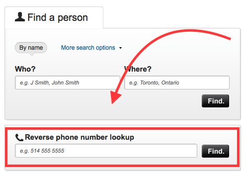 Mobile phone number reverse lookup