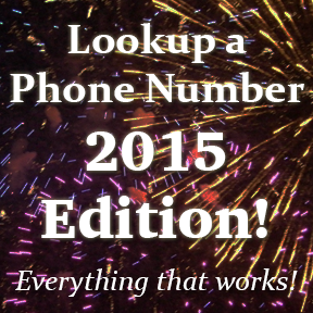 Best way to look up a phone number for free in 2015