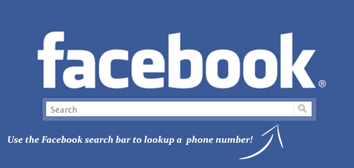 Lookup a phone number using the Facebook search function