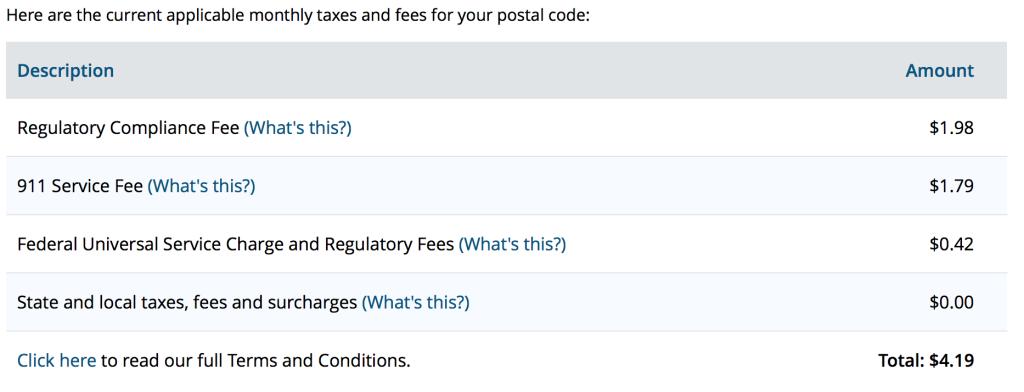 Ooma Telo Taxes