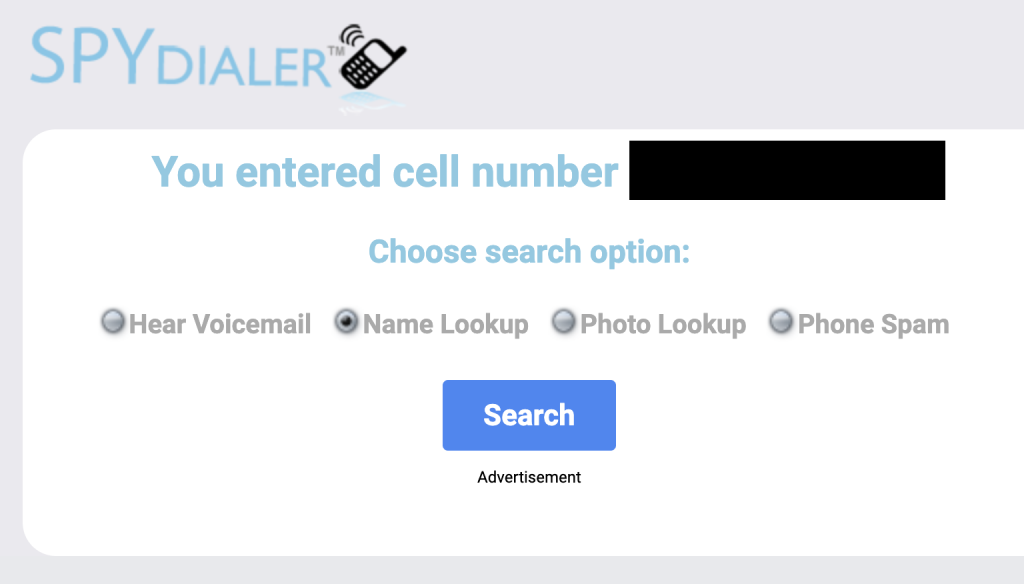 spydialer options page