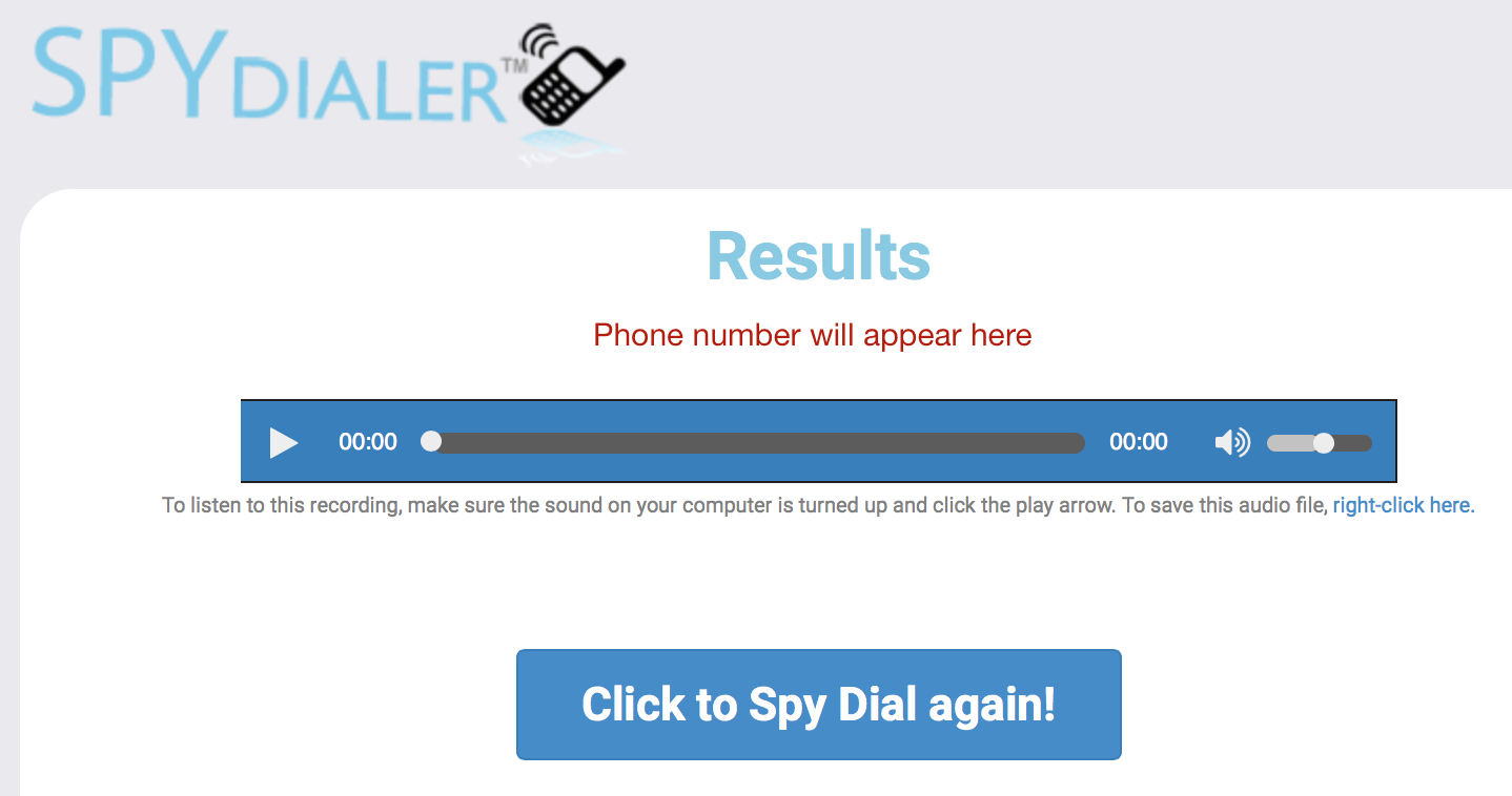 results of using the spy dialer service