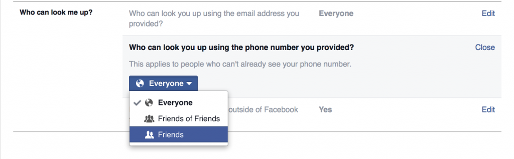 how to see friends phone numbers on facebook
