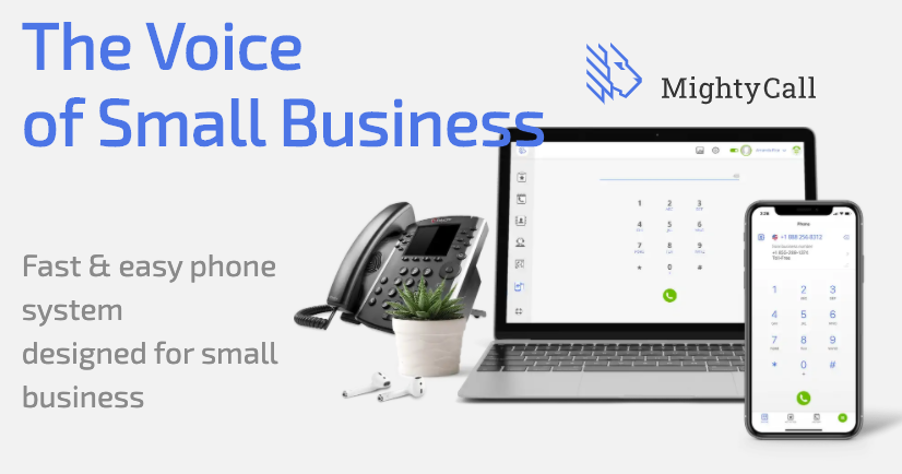 mightycall banner image on their homepage