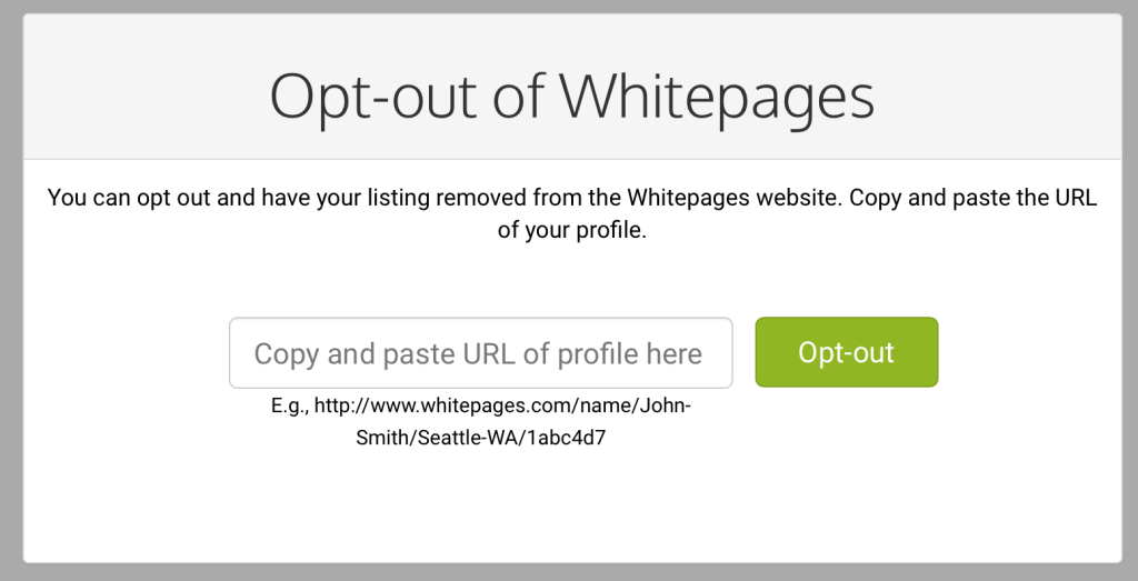 remove your listing from the white pages