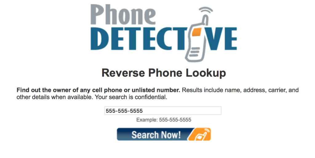 lookup a phone number using phone detective online service