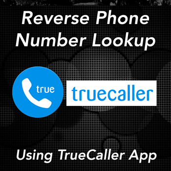 using true caller to perform free phone number lookups