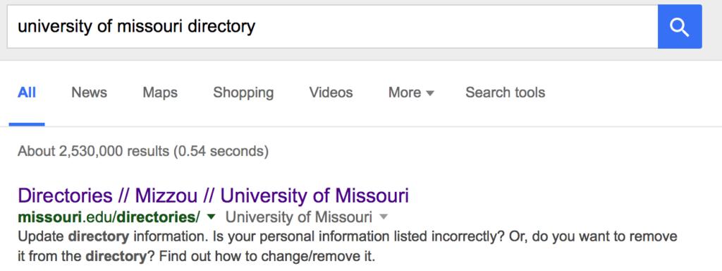 university phone number directory