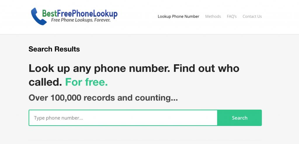 Best Free Phone Lookup - Reverse Phone Number Lookup Tool - free to use!